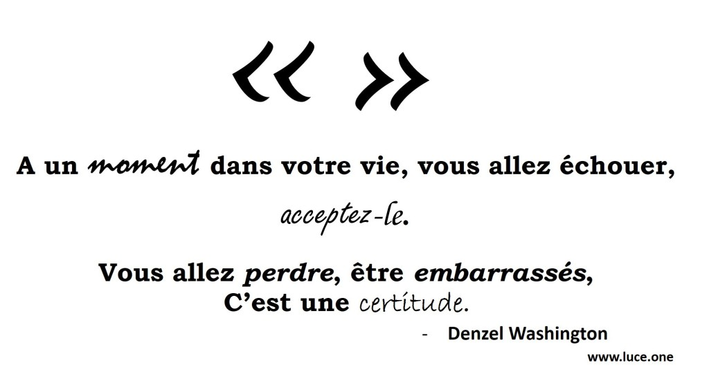 Denzel Washington - citation échec