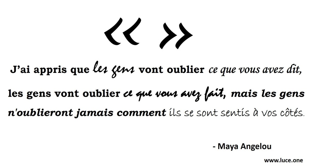 Maya Angelou - citation les gens