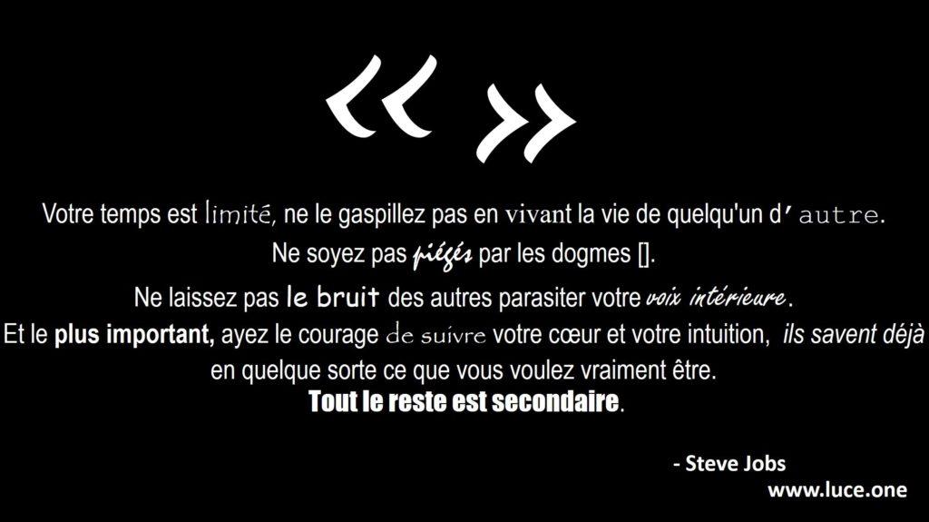 Steve Jobs - citation voix intérieure