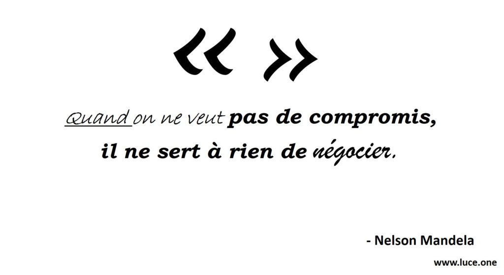 Nelson Mandela- negociation