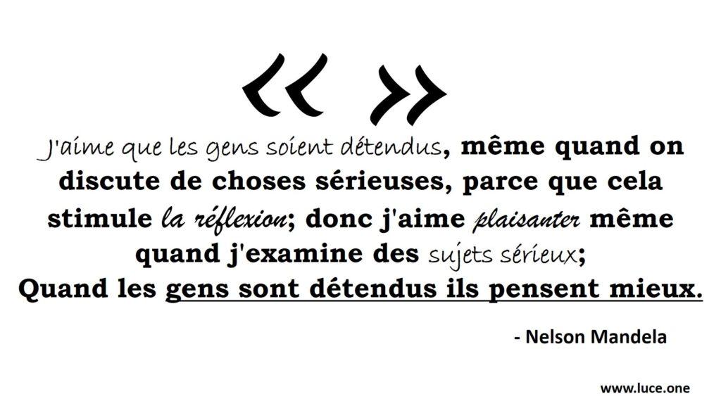 Nelson Mandela - Reflexion