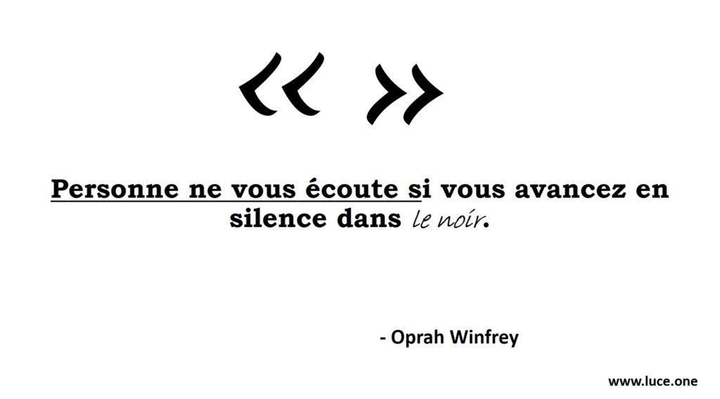 Oprah Winfrey - assertivité
