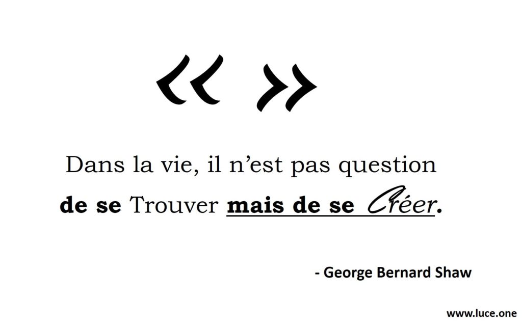 Finding vs creating - George Bernard Shaw
