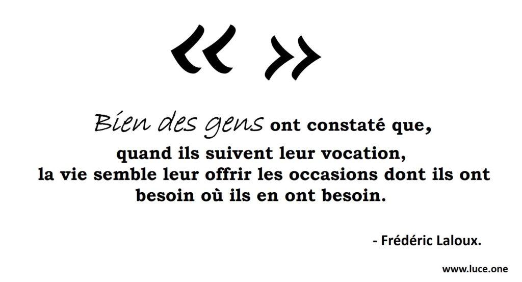 L univers conspire - Frédéric Laloux