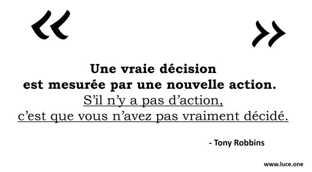 Une vraie décision - Tony
