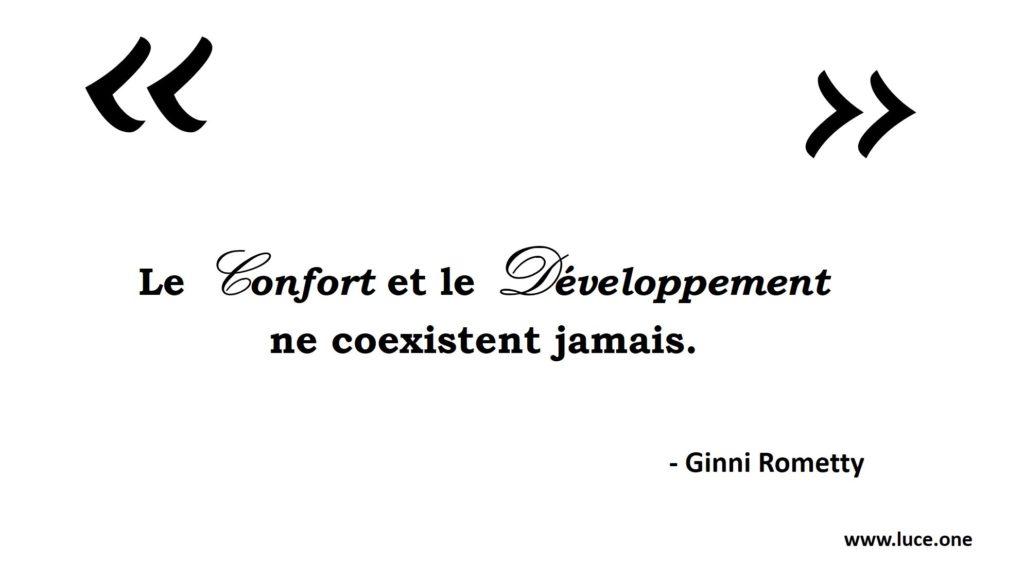 Le confort et le développement - Ginni Rometty
