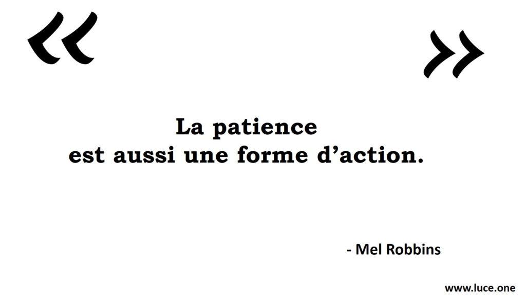 Patience - Mel Robbins