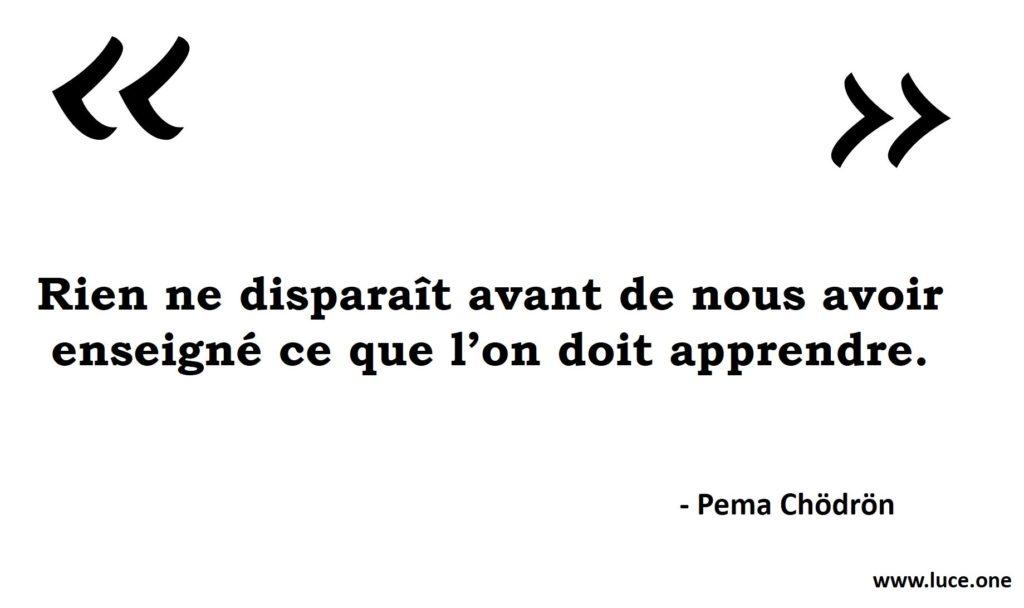 Rien ne disparait - Pema Chodron