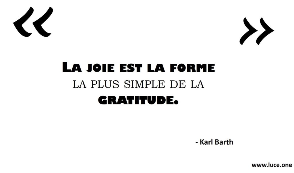 La joie est la forme la plus simple Karl Barth