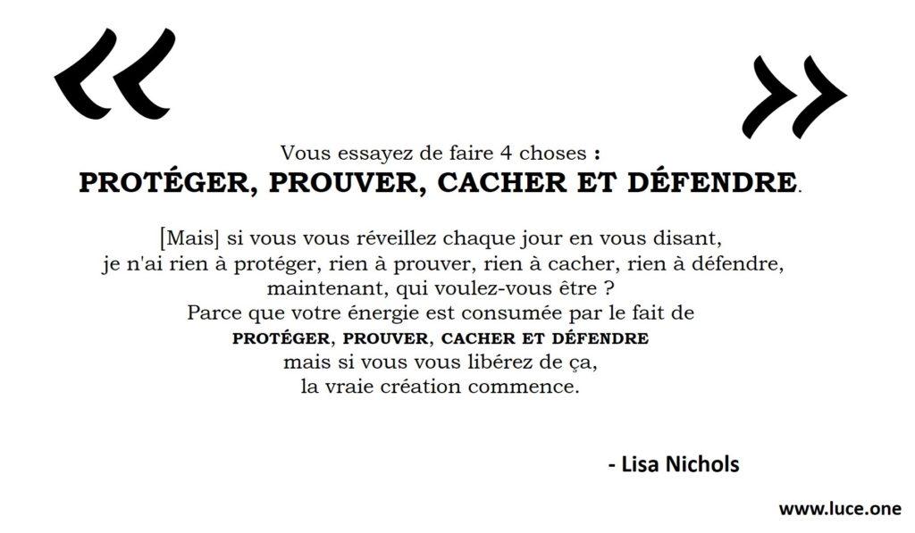 Protéger, prouver, cacher et défendre - Lisa Nichols