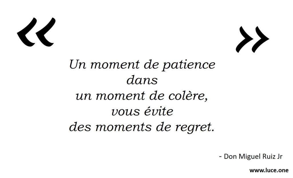 Un moment de patience - Don Miguel Ruiz