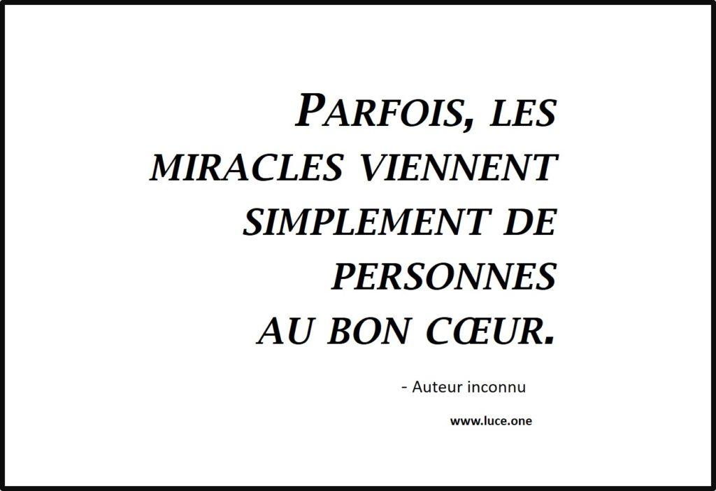 Les miracles - auteur inconnu
