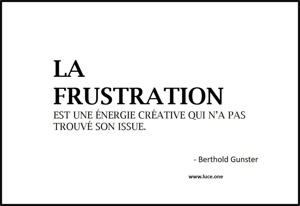 La frustration - Berthold Gunster