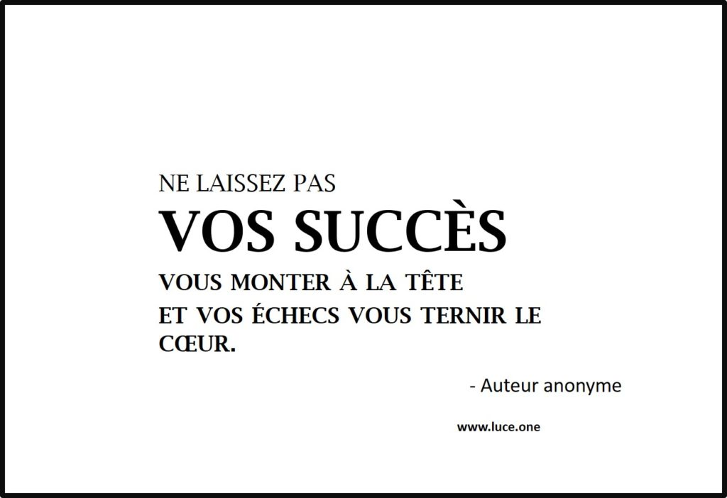 Vos succès et vos échecs - auteur anonyme