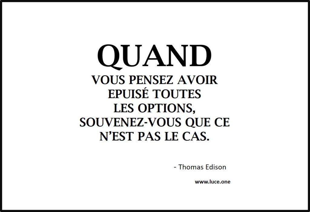 Toutes les options Thomas Edison