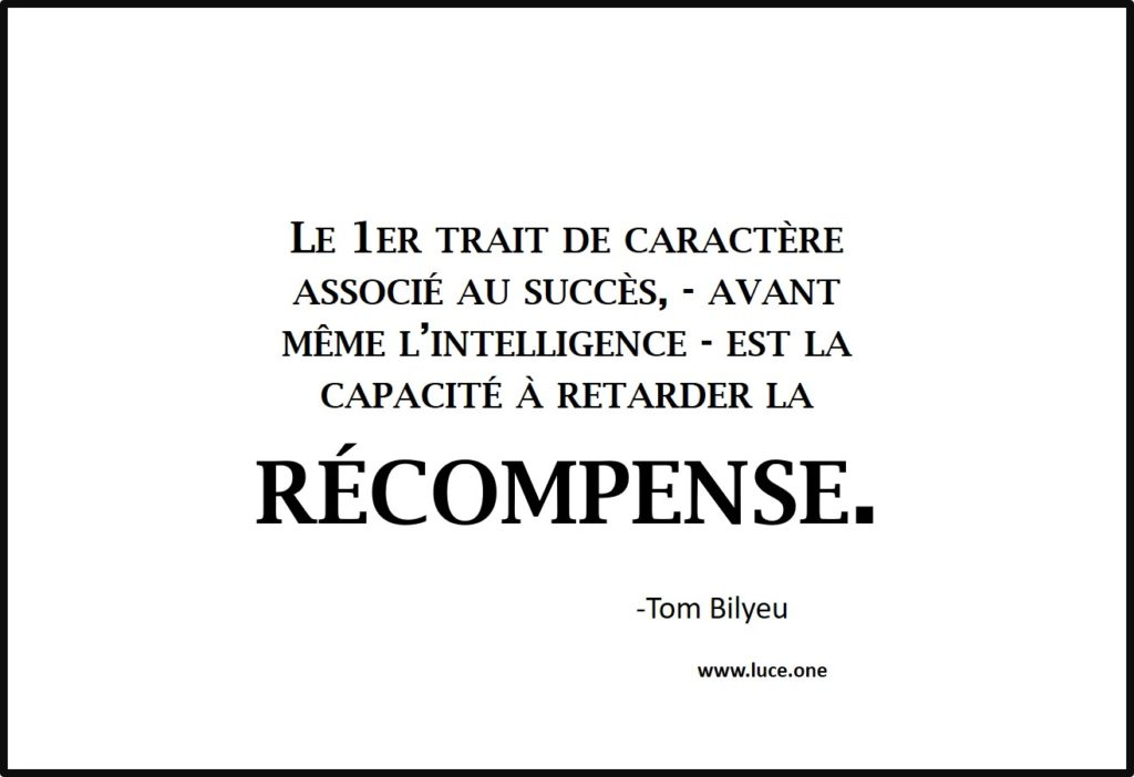 Retarder la récompense - Tom Bilyeu