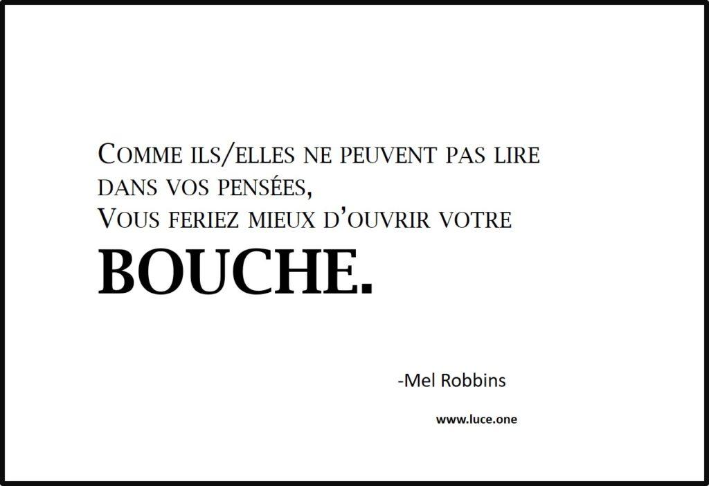 ouvrir sa bouche - Mel Robbins