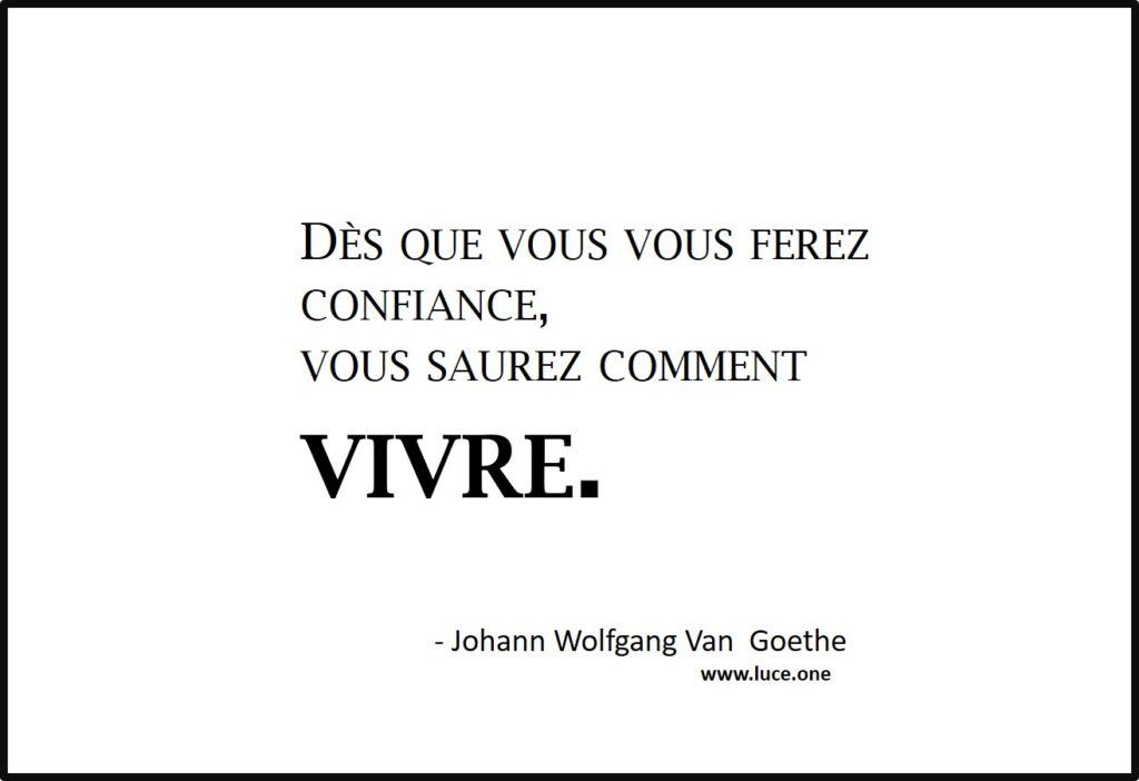 Se faire confiance Van Goethe
