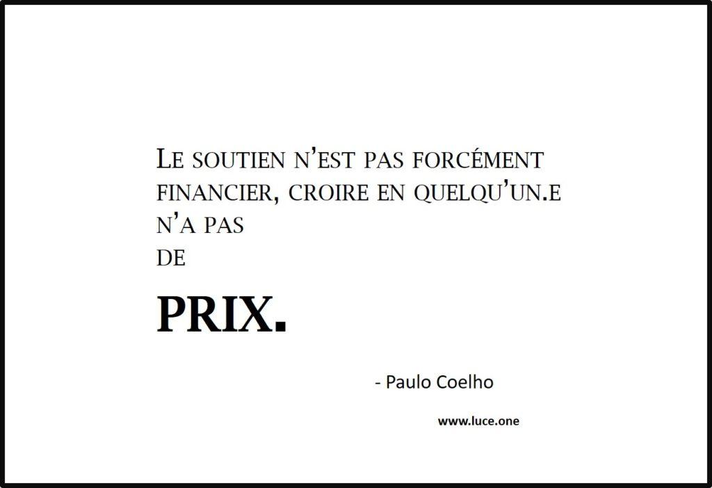 le soutien n a pas de prix - Paulo Coelho