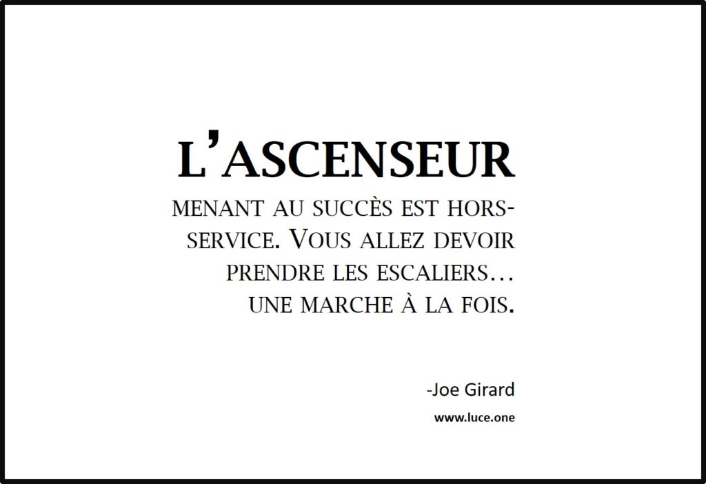 l ascenseur - Joe Girard
