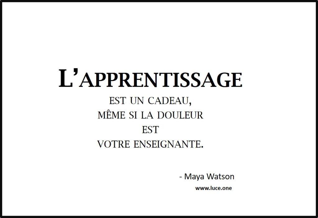 la douleur est votre enseignante - Maya Watson
