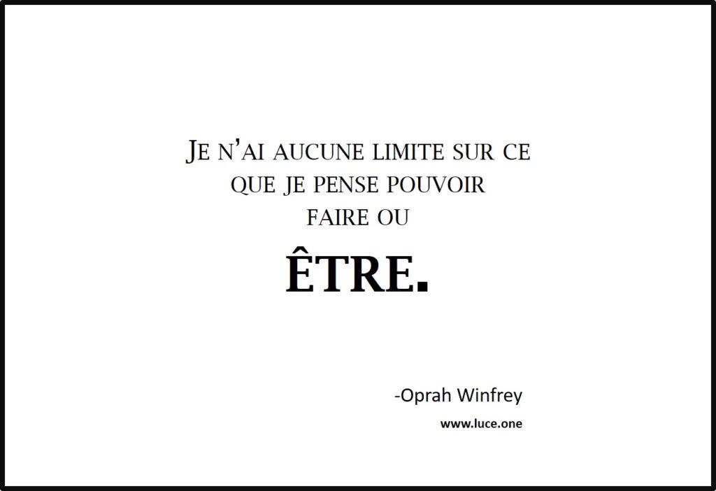 Aucune limite - Oprah Winfrey