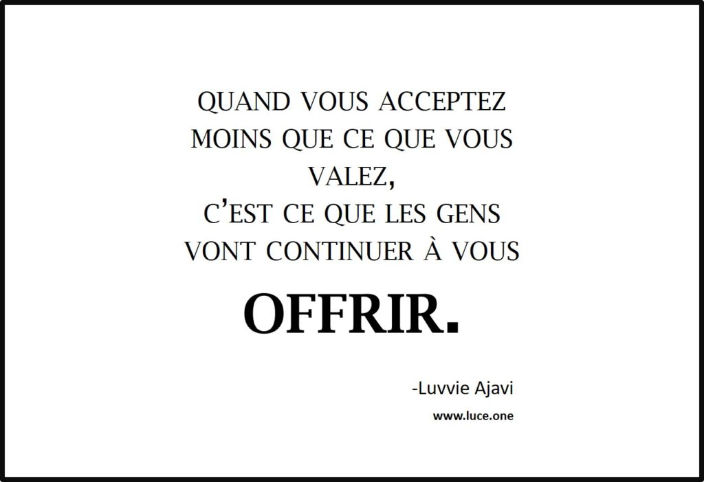 continuer a vous offir - Luvvie Ajavie