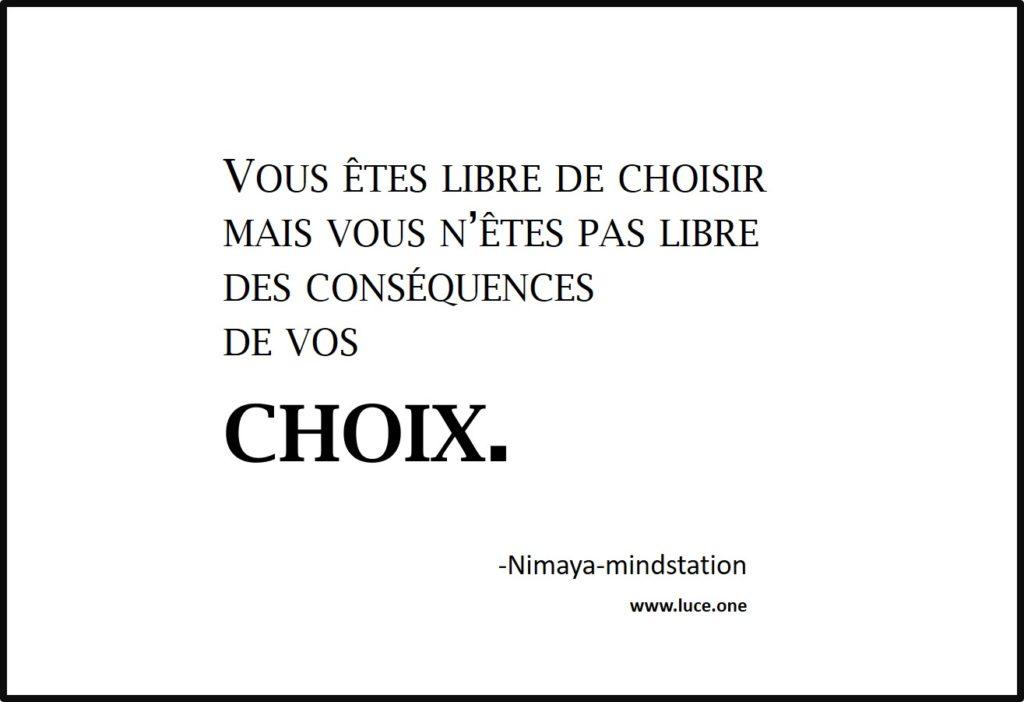 vous etes libre de choisir - Nimaya Mindstation