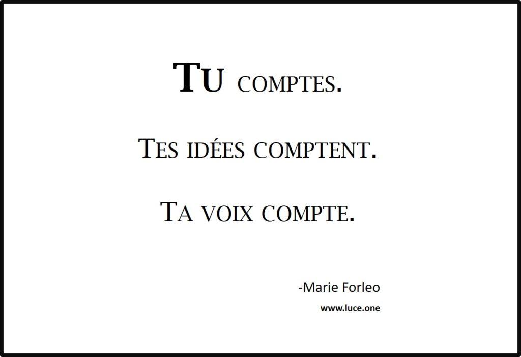 Tu comptes - Marie Forleo