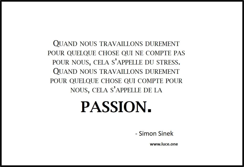 le stress vs la passion - simon sinek