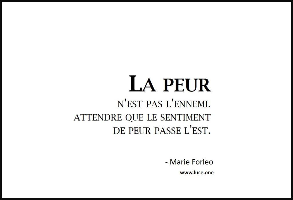 La peur n'est pas l'ennemi - Marie Forleo