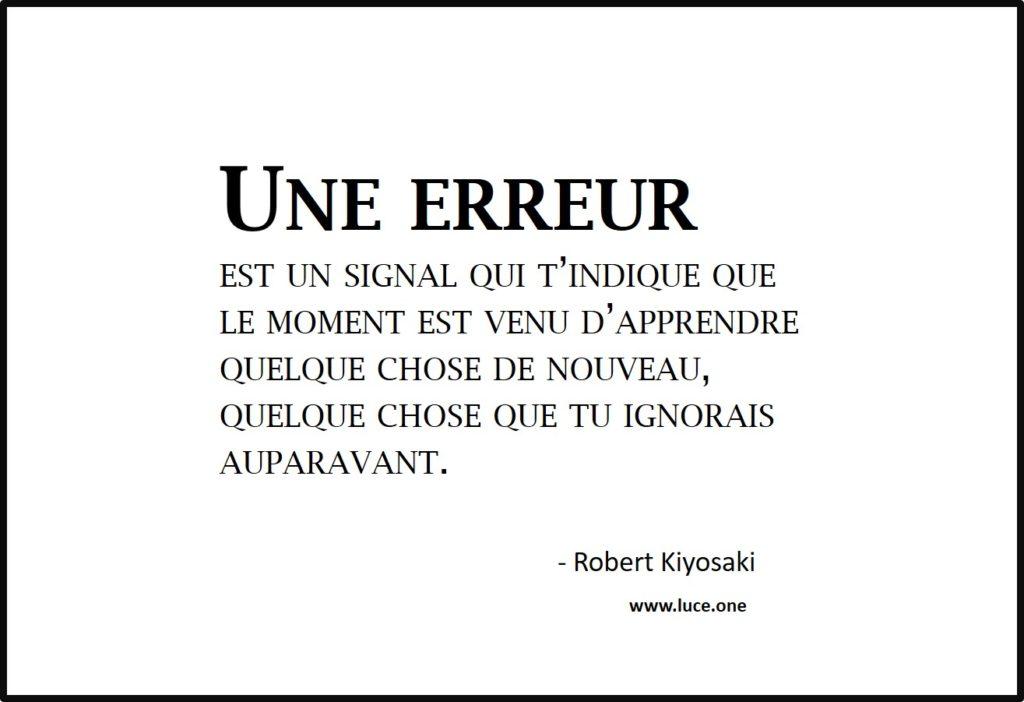 une erreur est un signal - Robert Kiyosaki